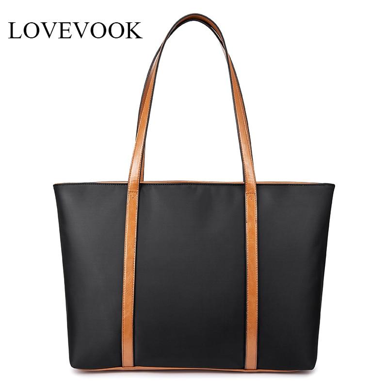 Lovevook Large Capacity Shoulder Bags Women Handbags High Quality Waterproof Oxford Causal Totes For Ladies Minimalist Tote Bags