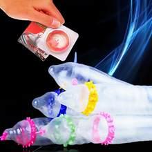 Lateksowa prezerwatywa przerywana prążkowana stymulacja pochwy dorosły wrażliwy orgazm kolce długie opóźnienie gumowy masaż prezerwatywy egzotyczne akcesoria