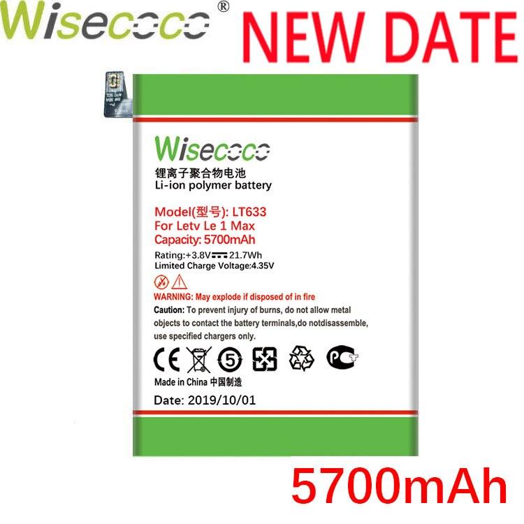 Batterie WISECOCO 5700mAh LT633 pour téléphone Letv Le 1 Max X900 en Stock dernière Production avec batterie de haute qualité + numéro de suivi