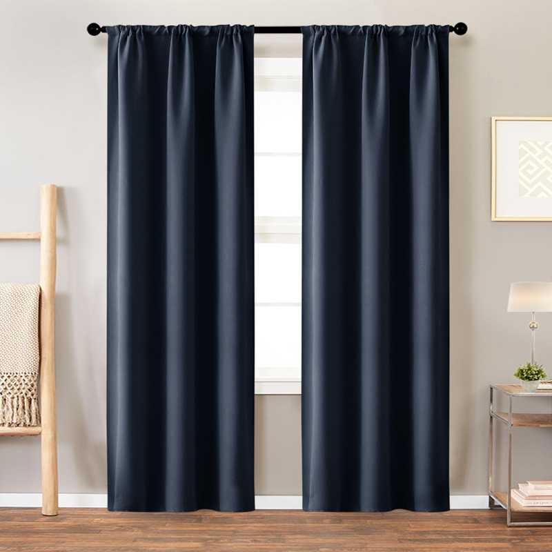High Shading Blackout Curtains For Bedroom Modern Thermal Insulating Solid Finished Curtains Living Room Window Treatment Drapes