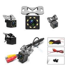Автомобильная камера заднего вида угол HD светодиодный свет ночного заднего вида камера 12 В универсальная парковочная камера водонепроницаемая HD изображение