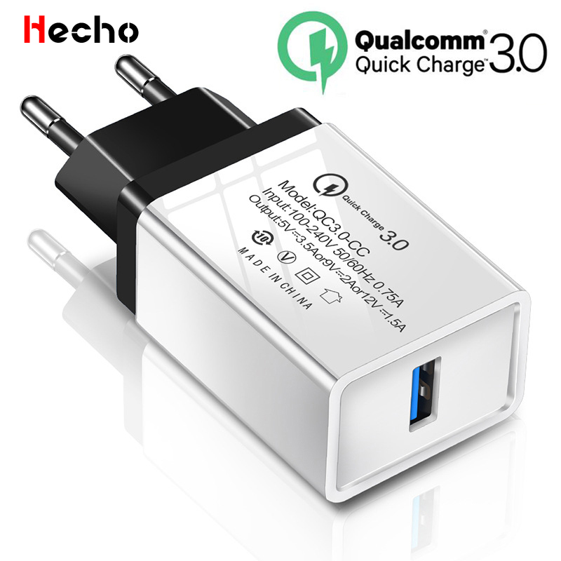 QC 3.0 USB Charger 18W Quick Charge 3.0 For iPhone 11 Samsung Xiaomi Mobile Phone Travel Wall Fast Charger EU Plug Power Adapter image