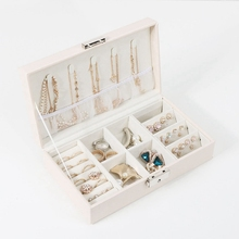 Multifunction Noble Jewelry Storage Box Ring Earrings Necklace Portable Travel