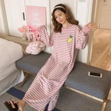 Casual loose nightgown women long sleeve night