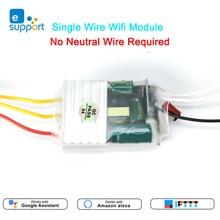 Einzel Live Wire wifi Modul 1/2/3gang RF433mhz Schalter Keine Neutralen Draht Erforderlich MINI DIY Schalter voice control durch Alexa