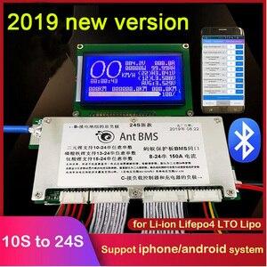 Image 1 - 10 s a 24 s lifepo4 life ion proteção da bateria de lítio 70a/100a/150a/200a/300a inteligente bms bluetooth display lcd 12 s 13 s 14 s 16 s 20 s