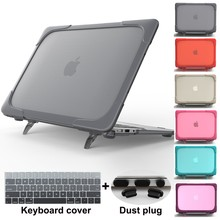 Redlai Plastic Hard Case with Foldable Bracket For 2019 Macbook Pro 13 inch Shockproor Laptop Air 12 15 Retina