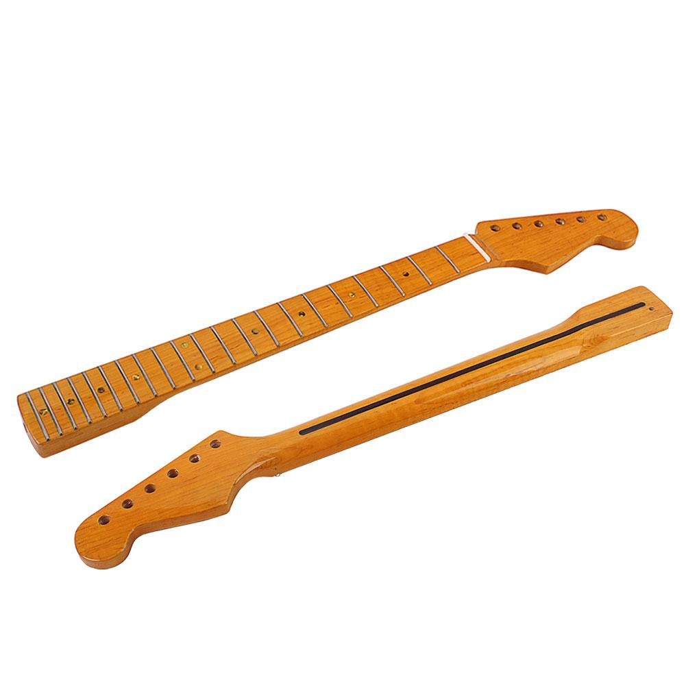 Stylish Wooden 21 Fret Fingerboard Neck Parts Replacement for ST Electric Guitar