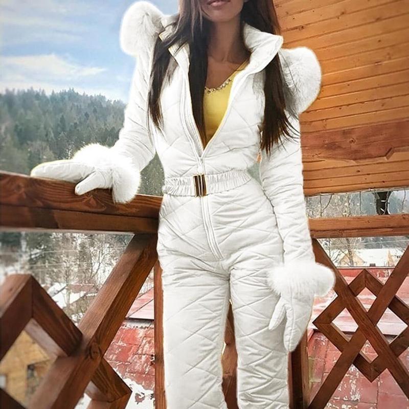 4 Colors S-XXXL Women Jumpsuit Breathable Snowboard Jacket Skiing Suits Pant Sets Warm Bodysuits Outdoor Snow Suits