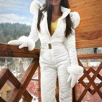 4 Colors S XXXL Women Jumpsuit Breathable Snowboard Jacket Skiing Suits Pant Sets Warm Bodysuits Outdoor Snow Suits