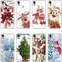 Kerst Cartoon Elanden Zachte Voor Iphone Xs X Xs Max Xr 9 5S 5SE 6 6S 8 Plus 7 Plus Voor Htc Desire 10 Pro U11 Voor Htc U11 Xmas Case