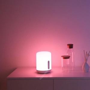Image 4 - שיאו mi mi jia מנורה שליד המיטה 2 חכם אור קול בקרת מגע מתג mi בית app Led הנורה עבור אפל homekit Siri & xiaoai שעון