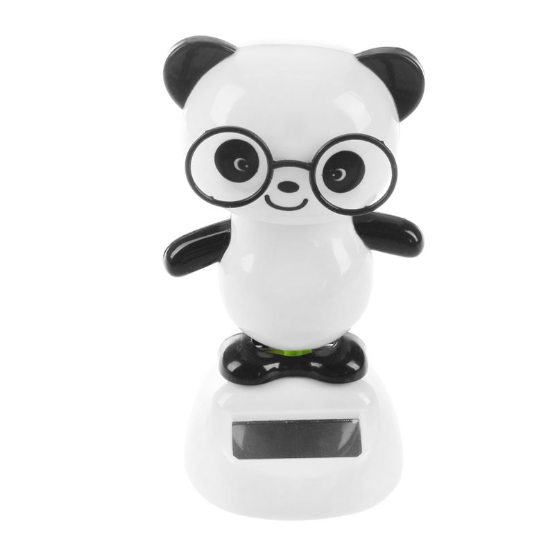 Solar Power Dancing Figures Panda,Novelty Desk Car Toy Ornament