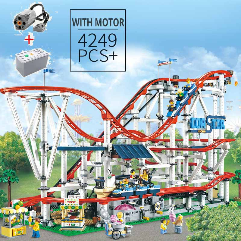 Peças Technic tijolo legoinglys 15039 Roller Coaster Definir Blocos de Construção criador especialista Educacional Brinquedos Aniversário Presente de natal