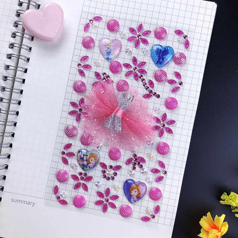 ลูกไม้โบว์เพชรสติกเกอร์สำหรับ Handmade DIY โทรศัพท์มือถือกระเป๋าของขวัญกล่องตกแต่งผู้หญิงที่มีสีสัน Rhinestones สติกเกอร์ผีเสื้อ