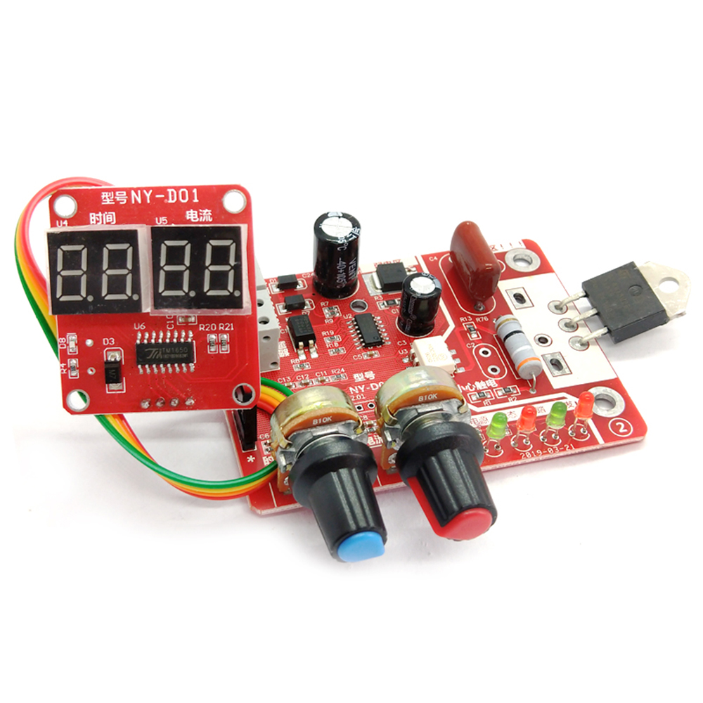 NY-D01 100A Spot Welding Machine Control Board Adjustable Time Current Digital Display Welder Transformer Controller Board