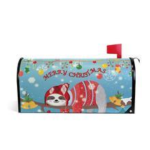 Веселый Рождественский почтовый ящик, чехлы стандартного размера, милый Ленивец, магнитная почтовая Обложка, почтовый ящик для украшения сада