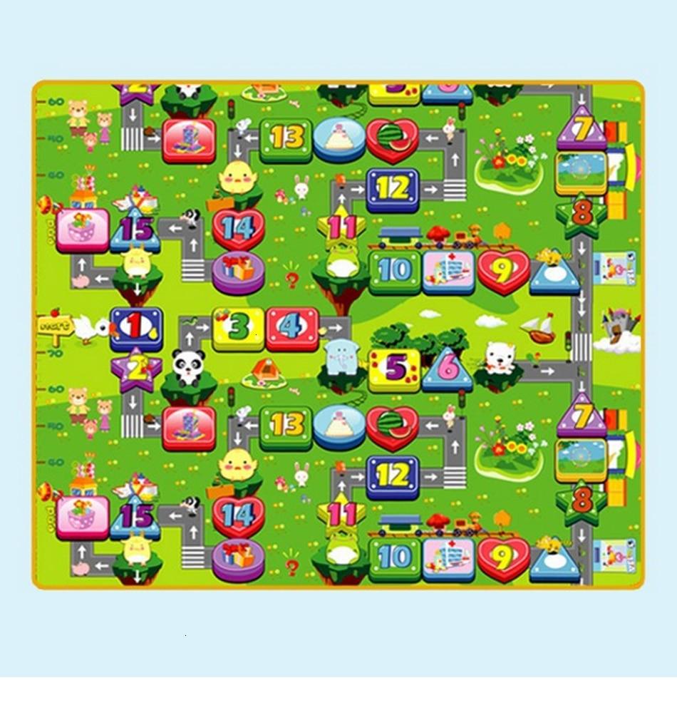 Hffe051d76de24131b5e49739832f66e51 Baby Play Mat 0.5cm Thick Crawling Mat Double Surface Baby Carpet Rug Puzzle Activity Gym Carpet Mat for Children Game Pad