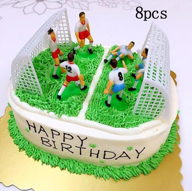 Awesome 1 Set Football Game Cake Topper Diy Kids Birthday Party Cake Birthday Cards Printable Giouspongecafe Filternl