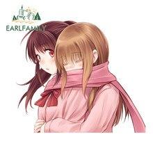 Earlfamily 13Cm X 11.2Cm Voor Anime Bang Knuffel Van Achter Grappige Auto Stickers Waterdicht Krasvast Decal bumper Windows Decor