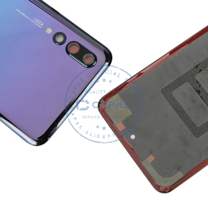 Image 3 - Original For Huawei P20 Pro Back Battery Cover + Camera Glass Lens For Huawei P20 Pro Rear Battery Door Cover Replacement