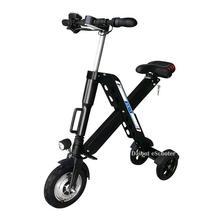 цена на 10 Inch Three Wheel Ladies Electric Bike Electric Bicycles 3 Wheel Mini Electric Scooter Folding 36V 350W