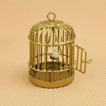 1pc Mini Hollow Bird Cage Handmade Metal Bird Cage DIY Bracelet Necklace Jewelry Pendant Miniature Home Decor 1
