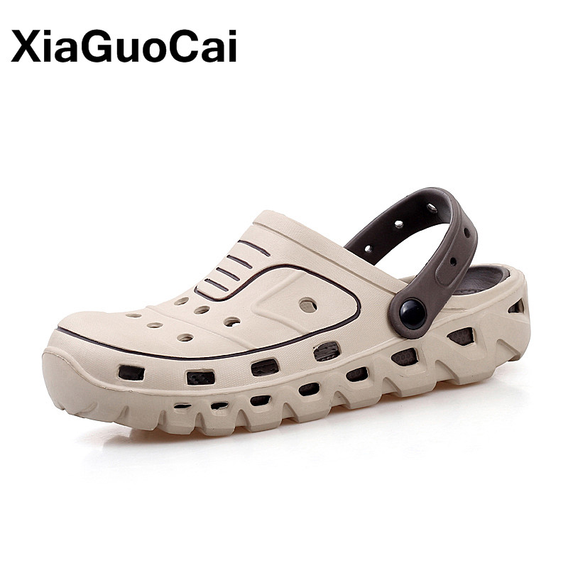 2020 New Arrival Men's Clogs Summer Shoes Men Slippers Breathable Non-slip Mules Male Garden Shoe Casual Beach Sandals Quick Dry
