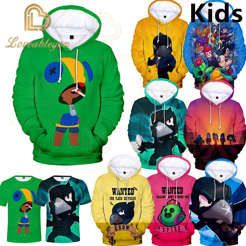 3 To 13 Years Kids Hoodies Shooting Game 3D Printed Hoodie Sweatshirt Boys Girls Casual Long Sleeve Jacket Coat Children Clothes