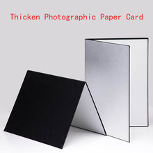 Photography background 58*42 CM foldable cardboard white black silver reflector absorbs light camera photo background props