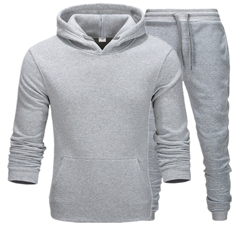 New Brand Clothing Men's Pullovers Sweater Cotton Men Tracksuits Hoodie Two Pieces + Pants Sports Shirts Fall Winter Track Suit