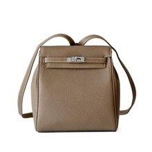 New Mini Backpack Genuine Leather Shoulder Bag For Girls Sac a Luxury Brand Small Bagpack Female Ladies School