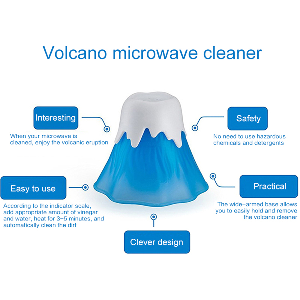 Creative Erupting Volcano Microwave Oven Washer Cleaner Food Grade Steam Cleaning Appliances Small Kitchen Dirt Cleaner Help Pakistan