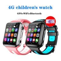 Reloj inteligente W5 4g para niños, dispositivo con posicionamiento GPS, teléfono móvil Android, Wifi, aplicación de Internet, descarga de videos, llamadas y grabación de fotos