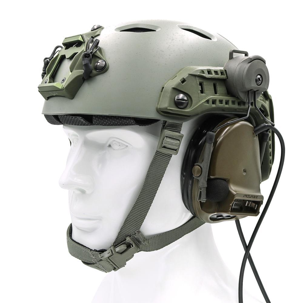 Купить с кэшбэком ARC Rail Adapter Helmet Headset Left & Right Side Attachments for Peltor Comtac i ii iii Headphones, Headset Accessories GRAY