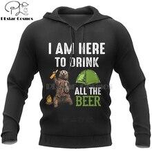 PLstar Cosmos Animal Bear Hunting I hate people Love Camping Funny New Fashion 3D Zipper/Hoodies/Sweatshirts/Jacket/Men/Women-3