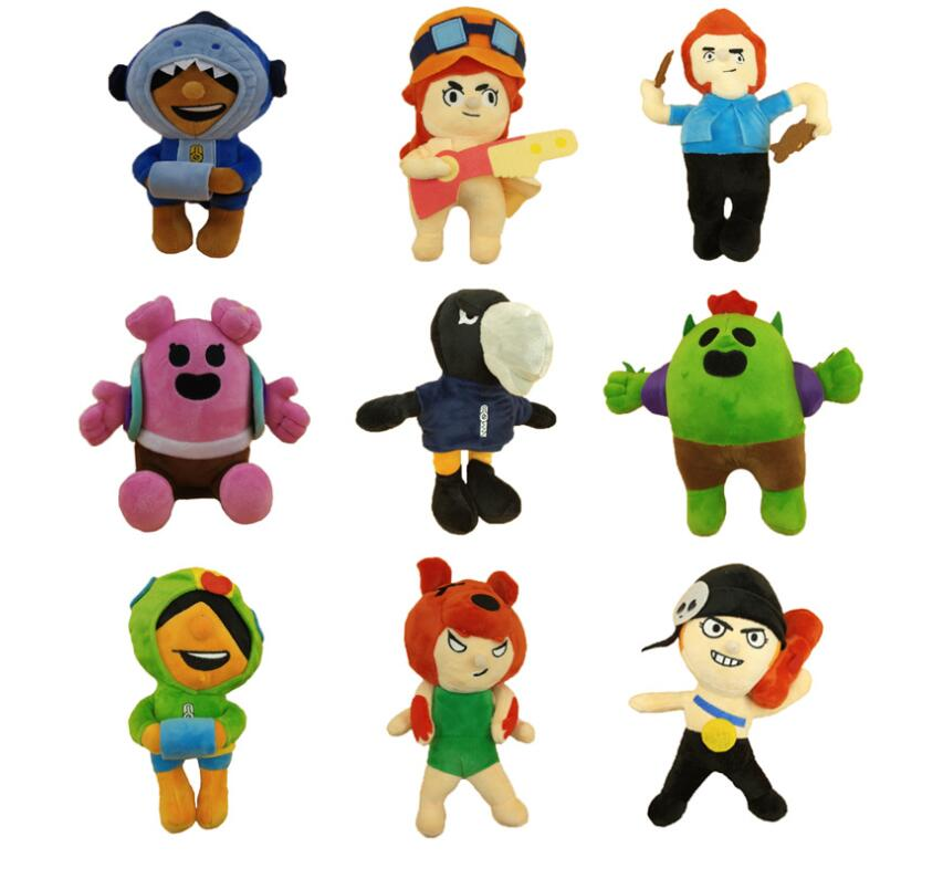 2020 23cm New Arrival Mobile Game Shelly Colt Nita Bull Jessie Brock Dynamike Bo El Primo Plush Toy Cactus Soft Stuffed Toys