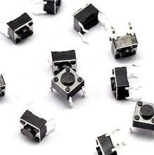 цена на 100pcs Tactile Switch Touch Push Button Key Tact Cooker 6 X 6 X 4.3mm 4-pin DIP diy electronics