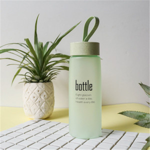 BPA Free Water Bottle Plastic Sport Scrub Plastic Water Cup Portable Fashion Drinkware Tour Bottles for Lovers Tea Bottle