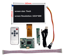 7 inch 1024*600 Screen Display LCD TFT Monitor with Remote Driver Control Board HDMI for Lattepanda,Raspberry Pi Banana Pi mv59bad universal usb sd media player board for 15 6 inch 1366x768 b156xw01 ccfl lvds monitor for raspberry pi