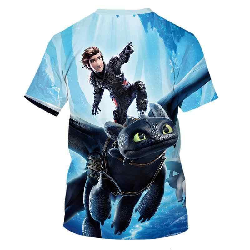Comment 2019 nouveau bébé été T-shirt former votre dragon 3D dessin animé impression garçon et fille t-shirts garçon vêtements t-shirts