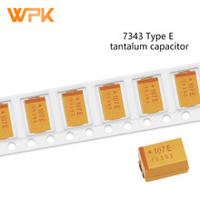 7343 Tantalum Capacitor E Type accuracy 10% 10V 16 25V 35V 50V 10UF 47 68 100 220 330 470UF 10Pcs