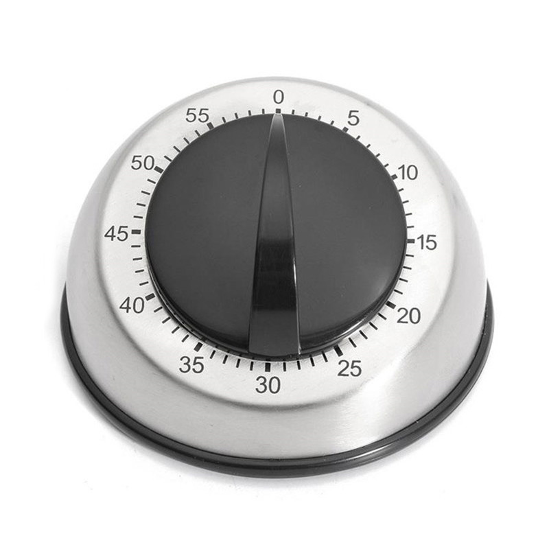 1pc Stainless Steel Dome Shape Kitchen Timer 60 Minutes Countdown Mechanical Wind Up Alarm Clock Home Kitchen Cooking Tools - 2