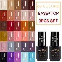 Manicure Gel-Polish Nails-Sets Rubber CONTIGO Uv-Gellac Semi-Permanent Top-Coat Varnishes