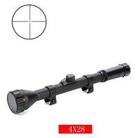 4X28 винтовочный прицел tratical охотничий mil-Dot оптический прицел военный для 11 мм 20 мм рейка для воздушного оружия Тактический игровой прицел