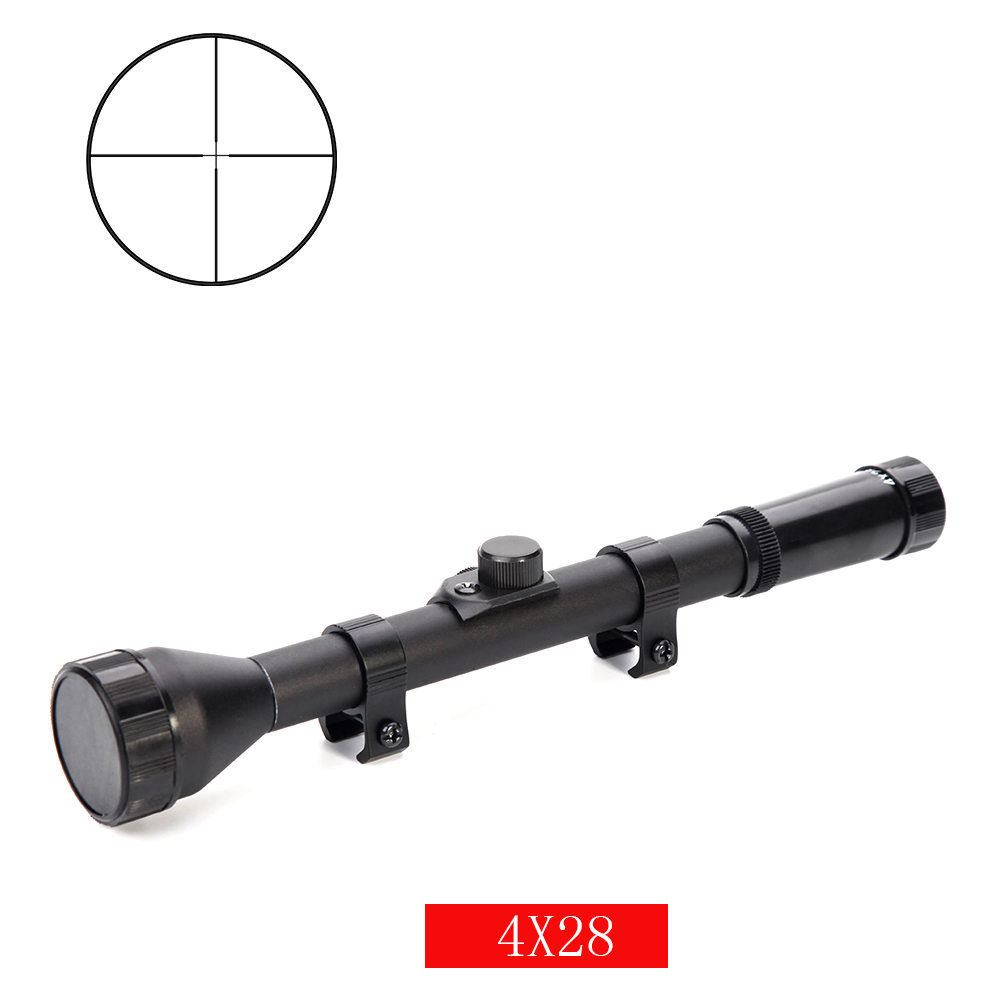 4X28 rifle scope tratical hunting mil-Dot optical sight military for 11mm 20mm rail mount for air gun tactical game scope