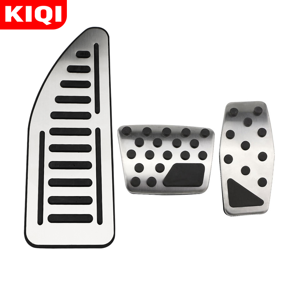 Stainless Steel Car Accelerator Pedal Brake Pedals Cover Rest Pedals for Jeep Renegade Compass Fiat 500X 2014-2020 Accessories