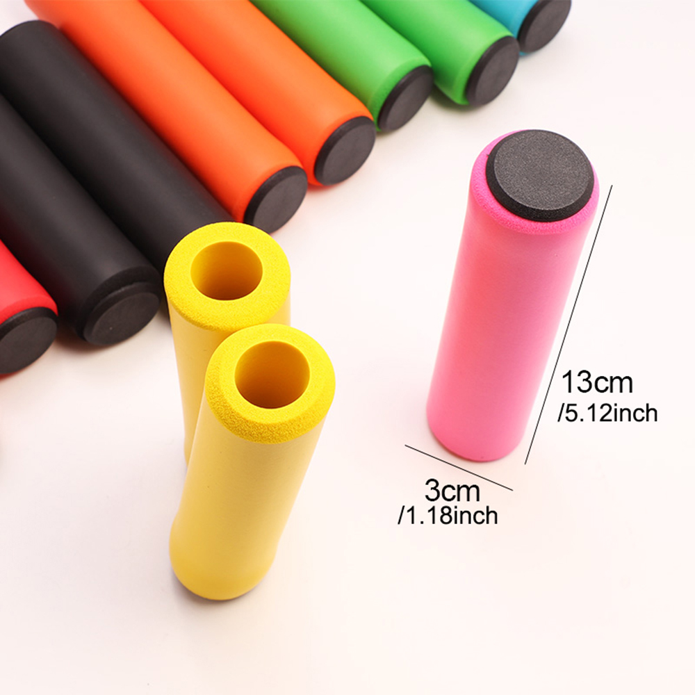1Pair Silicone Cycling Bicycle Grips Outdoor MTB Mountain Bike Handlebar Grips Cover Anti-slip Strong Support Grips Bike Part