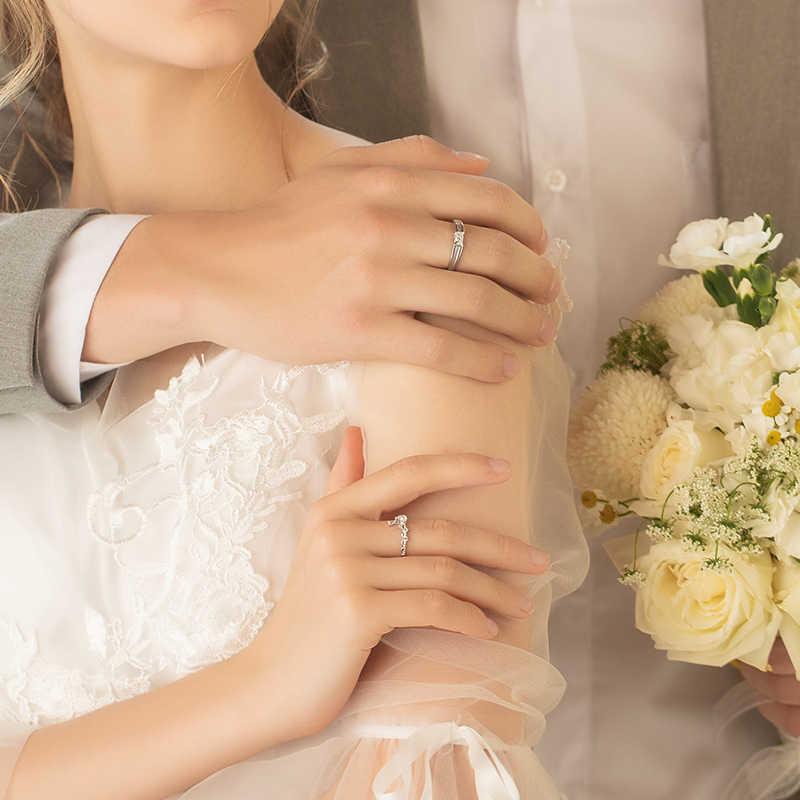 Anillos de boda Thaya Plata de Ley 925 anillos de pareja ajustables anillos romáticos para mujer regalo de compromiso