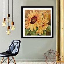 Diamond painting 5d diy home decoration sunflower 35x35cm simple